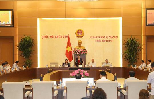 Phiên họp thứ 12 của Ủy ban Thường vụ Quốc hội khai mạc sáng 11-7 - Ảnh: Quochoi