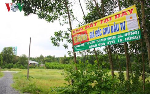 Quảng cáo bán đất khu vực gần sân bay Long Thành