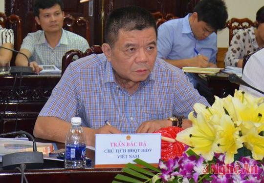 Ông Trần Bắc Hà khi còn đương chức Chủ tịch BIDV