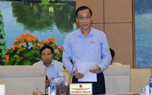 Báo cáo giám sát do Chủ nhiệm Uỷ ban Kinh tế của Quốc hội Vũ Hồng Thanh trình bày thẳng thắn chỉ rõ nhiều tồn tại, hạn chế