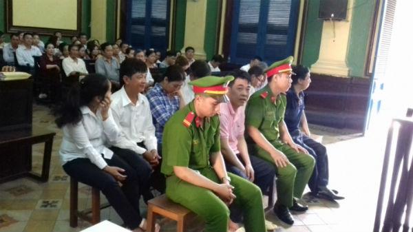 Các bị cáo tại phiên tòa năm 2016
