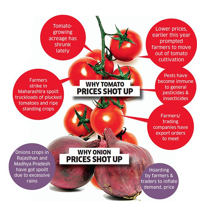 Cà chua và hành tây: Kẻ thù trong cuộc chiến chống… lạm phát tại Ấn Độ