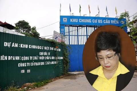 Bà Châu Thị Thu Nga đã bị khởi tố về những sai phạm liên quan đến hai dự án bất động sản tại Hà Nội trị giá hàng trăm tỷ.