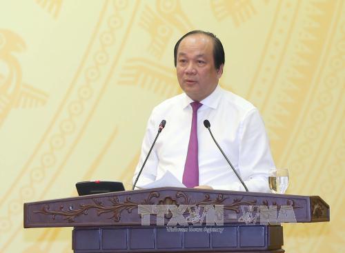 Bộ trưởng, Chủ nhiệm Văn phòng Chính phủ Mai Tiến Dũng. Ảnh: Doãn Tấn/TTXVN.