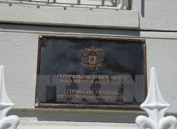 Tổng lãnh sự quán Nga ở San Francisco, Mỹ ngày 31/8 vừa qua. (Ảnh: THX/TTXVN)