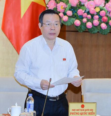 Phó Chủ tịch Quốc hội Phùng Quốc Hiển (Ảnh: Quốc hội)