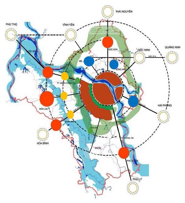 Quy hoạch đô thị vệ tinh Hà Nội