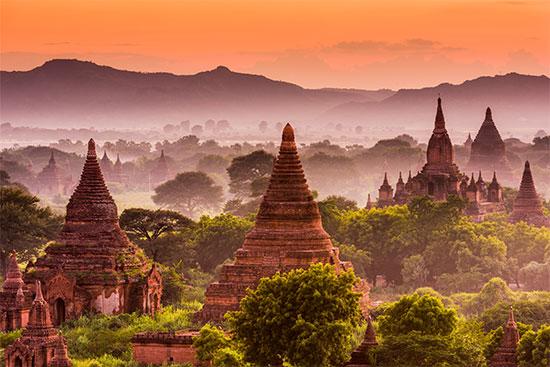 Đền thờ Phật giáo ở Pagan, Myanmar