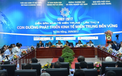 Toàn cảnh Diễn đàn Kinh tế Miền Trung ngày 25/9 - Ảnh: Việt Tuấn.