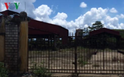 Nhà máy chế biến cà phê tại xã Nhâm huyện A Lưới bỏ hoang gỉ sét từ nhiều năm nay