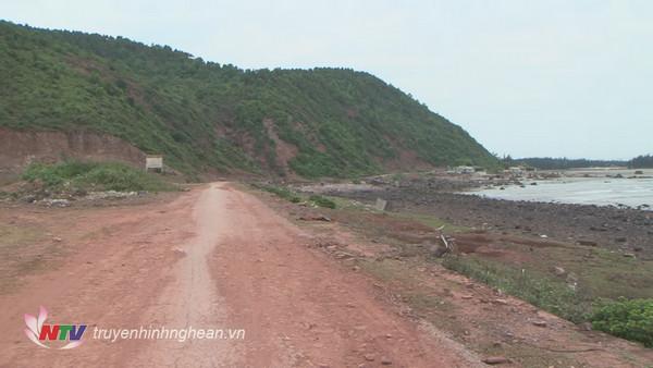 Đường ven biển Nghệ An đoạn qua Cửa Hiền - huyện Diễn Châu