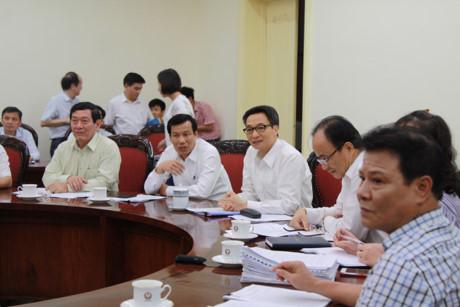 Quang cảnh buổi làm việc về cổ phần hóa Hãng phim truyện Việt Nam - Ảnh: Zing