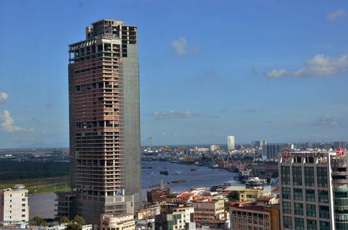 Dự án cao ốc Sài Gòn M&C vừa bị VAMC thu giữ, bán đấu giá để thu hồi nợ xấu Ảnh: Tấn Thạnh