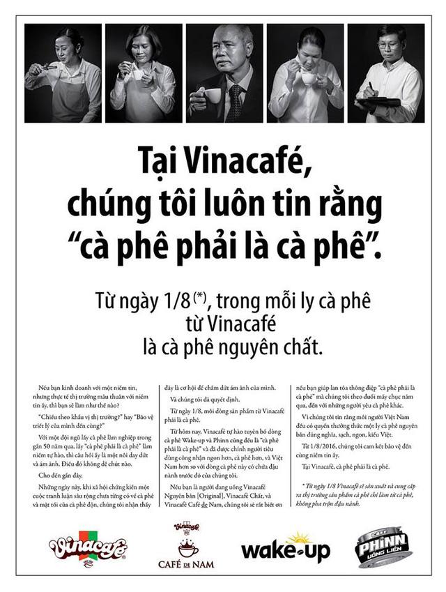 Quảng cáo được tung ra cách đây 1 năm của Vinacafé