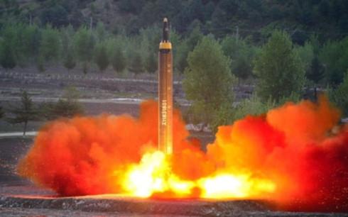 Một vụ phóng tên lửa Triều Tiên (Ảnh: Reuters)