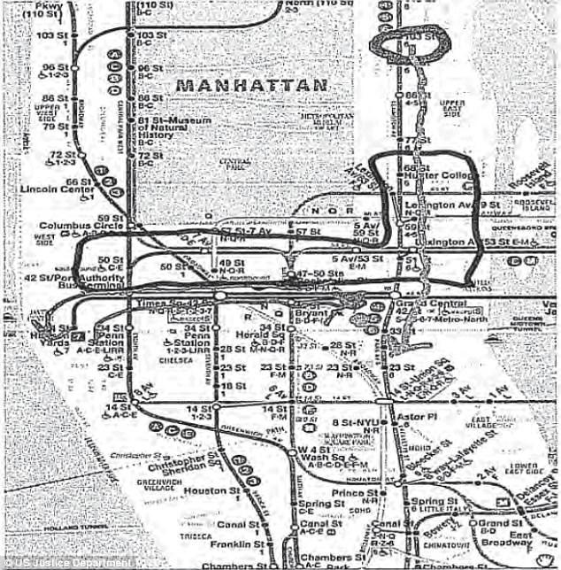 El Bahnasawy gửi bức ảnh ghi kế hoạch đánh bom hệ thống tàu điện ngầm. Ảnh: Bộ Tư pháp Mỹ