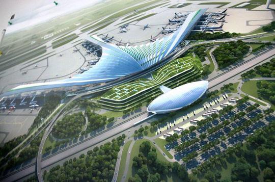 Phương án 7 về kiến trúc sân bay quốc tế Long Thành lấy ý tưởng từ lá cọ, lá dừa nước tiến hành vào kiến trúc phần mái công trình - Ảnh minh hoạ