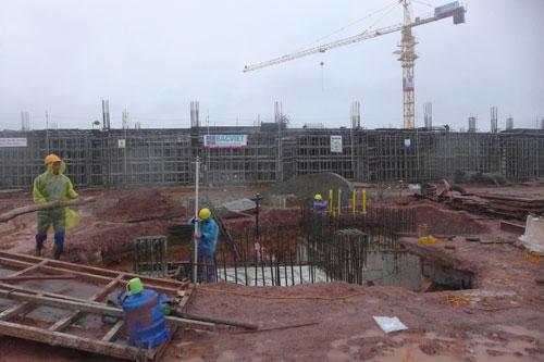 Sân bay Vân Đồn đang được xây dựng Ảnh: Thế Dũng