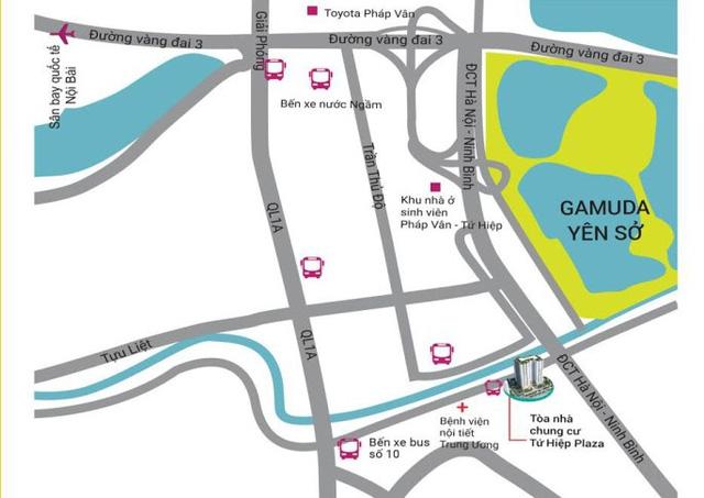 Tứ Hiệp Plaza tọa lạc trên trục huyết mạch phía Nam thủ đô.