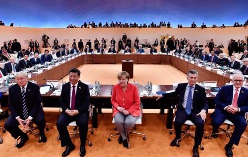 Các nhà lãnh đạo thế giới tại Hội nghị Thượng đỉnh G20 ở Đức hồi tháng 7Ảnh: AP