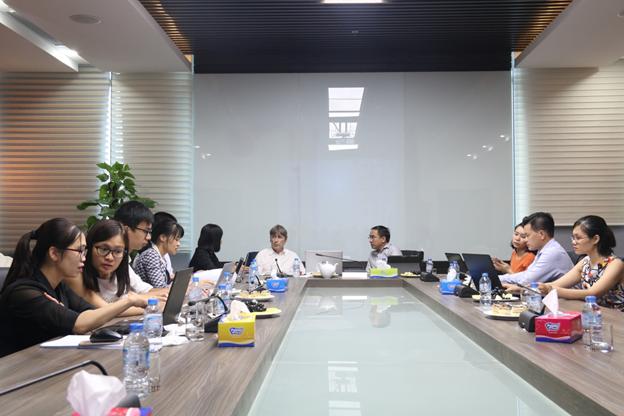 Đại diện TASECO Airs và Quỹ PENM IV trao đổi, thỏa thuận hợp tác