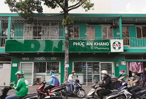 Một cửa hàng dược phẩm của Phúc An Khang.
