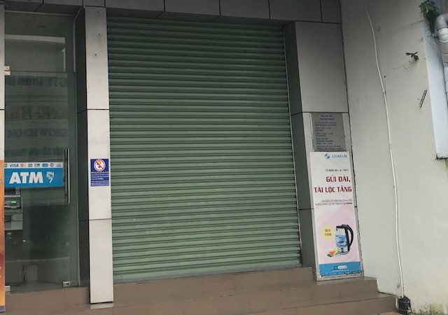 Chi nhánh ngân hàng, nơi xảy ra vụ việc.