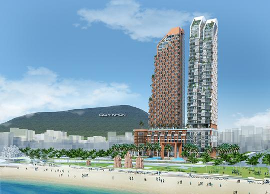 Phối cảnh dự Khu phức hợp Khách sạn, Thương mại và Căn hộ cao cấp Thiên Hưng có mức đầu tư hơn 2.900 tỉ đồng
