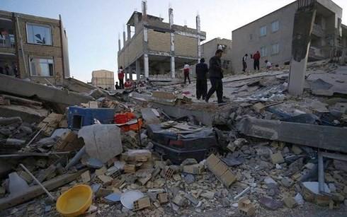 Quang cảnh trận động đất tại khu vực Iran-Iraq. Ảnh: Reuters