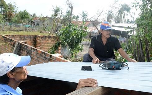 Sau bão, nhu cầu vật liệu xây dựng tại Khánh Hòa tăng cao.(Ảnh minh họa: KT)