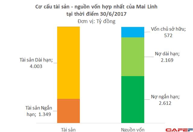 Cơ cấu tài sản của Mai Linh cho thấy rủi ro mất thanh khoản rất lớn