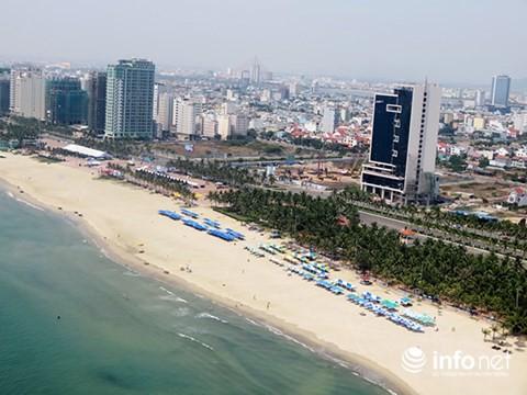 Bãi biển từ Resort Temple Đà Nẵng đến khu vực nhà hàng Phước Mỹ được yêu cầu đặt tên bãi biển Phước Mỹ (Ảnh: HC)