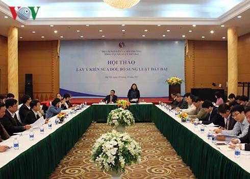 Hội thảo lấy ý kiến sửa đổi, bổ sung Luật Đất đai.