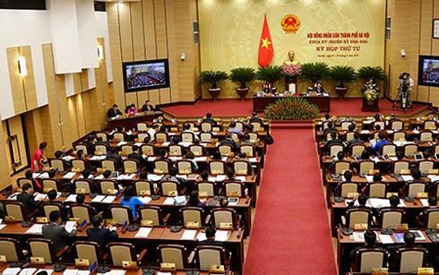 Kỳ họp thứ V, HĐND thành phố Hà Nội khai mạc ngày 4/12.