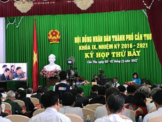 Cuộc họp HĐND TP Cần Thơ diễn ra sáng nay. Ảnh: Ca Linh