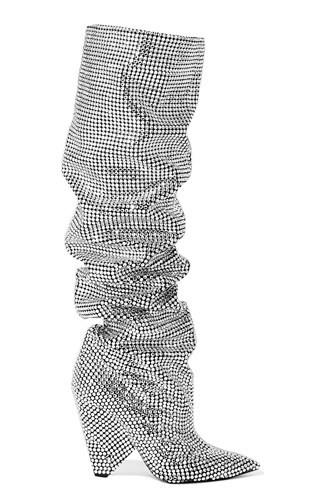Đôi bốt hiệu Saint Laurent đính kim cương trị giá 6.855 bảng Anh