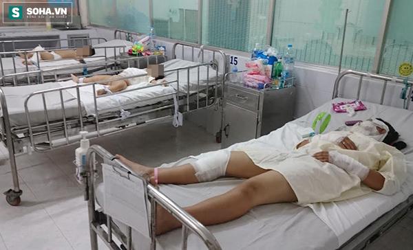 Vào dịp lễ, tết, BV Nhi Đồng 1 phải cấp cứu rất nhiều trẻ bị tai nạn dẫn đến phỏng.