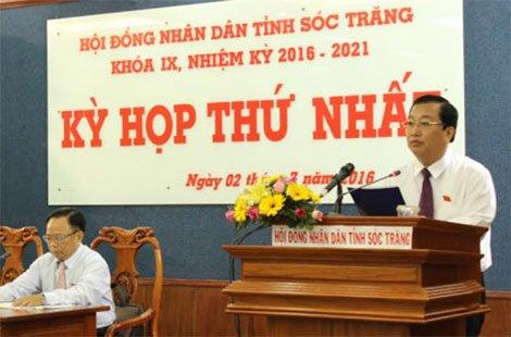 Chủ tịch UBND tỉnh Sóc Trăng (ảnh: CAND)