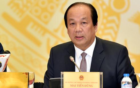 Bộ trưởng, Chủ nhiệm VPCP Mai Tiến Dũng. (Ảnh: VGP)