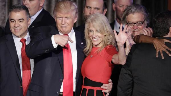 Bà Conway được cho là khiến Trump hài lòng khi đối mặt với chỉ trích để bảo vệ ái nữ của tổng thống. Ảnh: Reuters.
