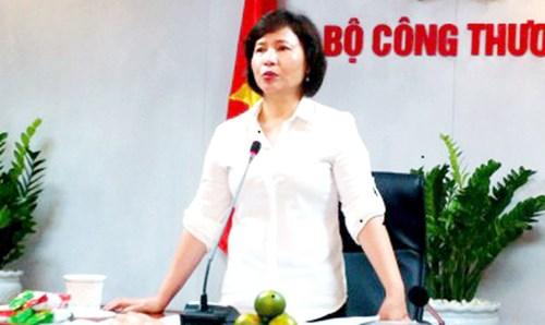 Thứ trưởng Công thương Hồ Thị Kim Thoa.