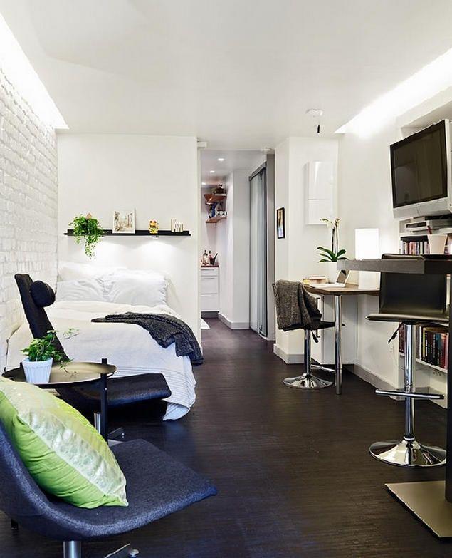 Với tất cả các khu vực chức năng, không gian thoáng sáng không ai nghĩ rằng căn hộ này có diện tích chỉ 25m2.