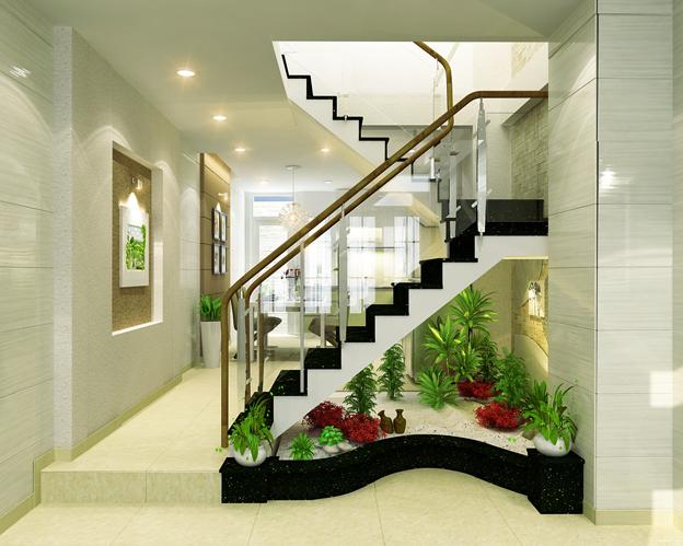 Cầu thang đặt giữa nhà gây ảnh hưởng tới hạnh phúc gia chủ.