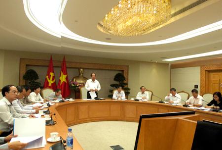 Toàn cảnh buổi họp. Ảnh: VGP/Nguyễn Hoàng