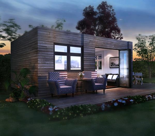 Ngôi nhà được làm bằng gỗ tuyệt đẹp với hai hàng hiên rộng thoáng – một không gian lý tưởng để tận hưởng cuộc sống trong lành.