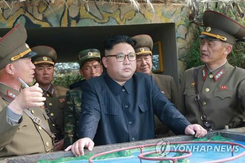 Ông Kim thăm 2 đảo Jangjae và Mu hôm 4-5. Ảnh: YONHAP
