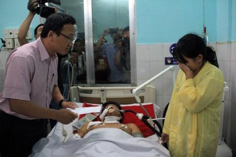 Người bị thương trong vụ tai nạn đang được điều trị tại bệnh viện