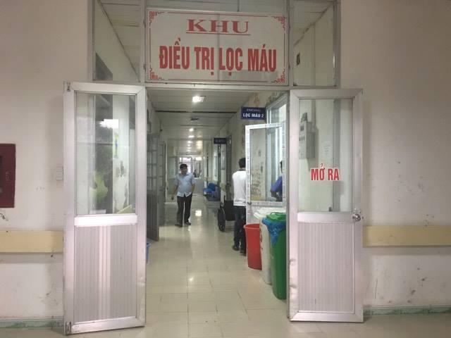 Khu điều trị lọc máu, nơi xảy ra sự cố vào sáng 29/5.