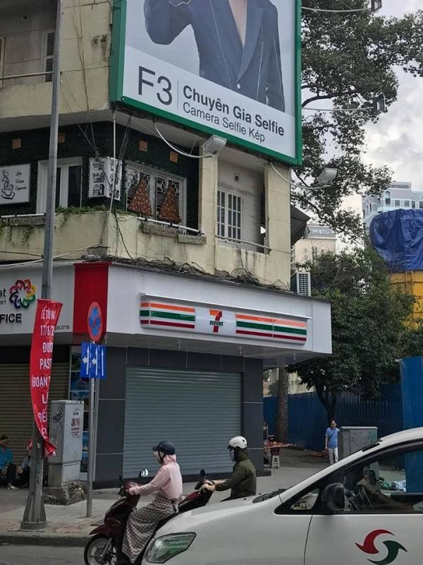 Cửa hàng 7- Eleven sẽ mở ngay cạnh đường (Nguồn: FB Nguyễn Quang Huy)