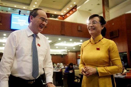 Đến dự có Ủy viên Bộ Chính trị, Bí thư Thành ủy Nguyễn Thiện Nhân.